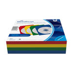 CD Paperbag Colorpack (25xred, 25xgreen, 25xblue,25x yellow) with Flagwindow Pack100