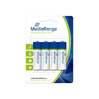 MediaRange Baterije Rechargeable NiMH Accus, Micro AAA HR03 1.2V, Pack 4 MRBAT120